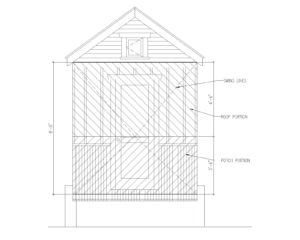 fold down porch dimensions