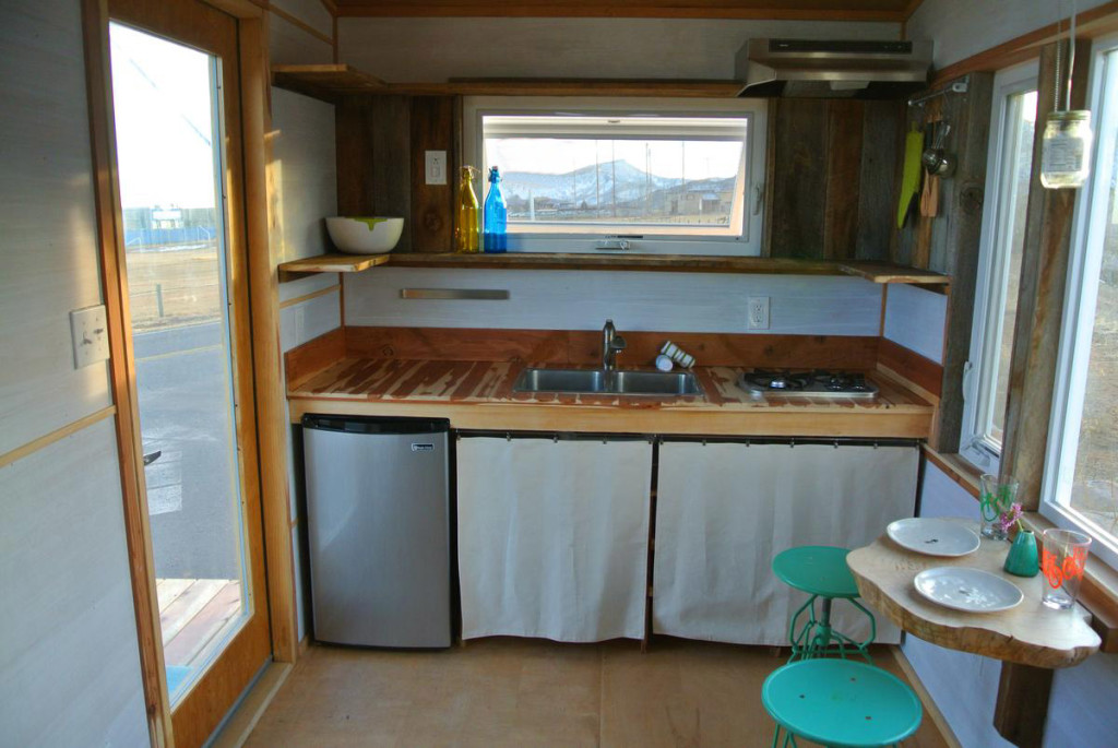 Boulder tiny house kitchen