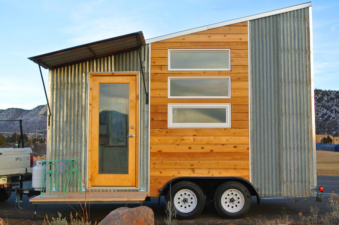 Tiny houses on trailers for sale - Boulder Tiny House Front