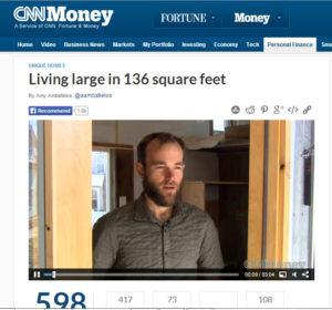 CNN interviews Rocky Mountain Tiny Houses