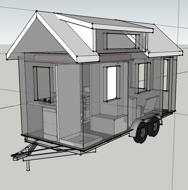 Tiny House Blueprints mcg loft tiny house floor plan Custom Tiny House Plans