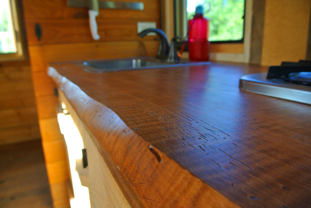 Tiny House Custom Wood Countertop