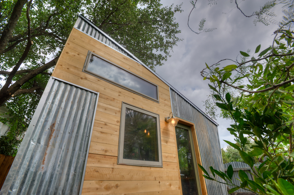 East Austin Funky Tiny House Exterior