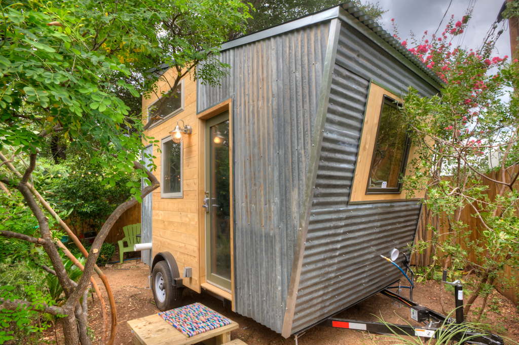 Tiny House Financing pequod tiny house catwalk Funk East Austin Tiny House