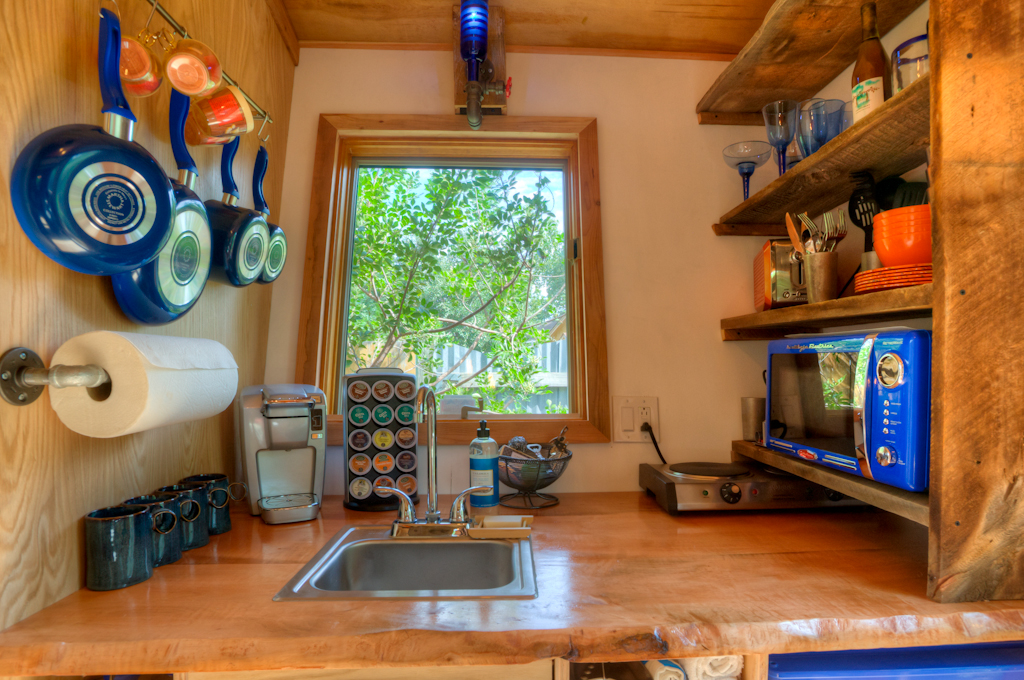Austin Tiny House kitchen