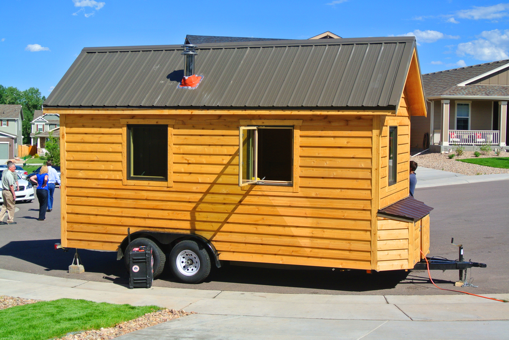SIP tiny house exterior