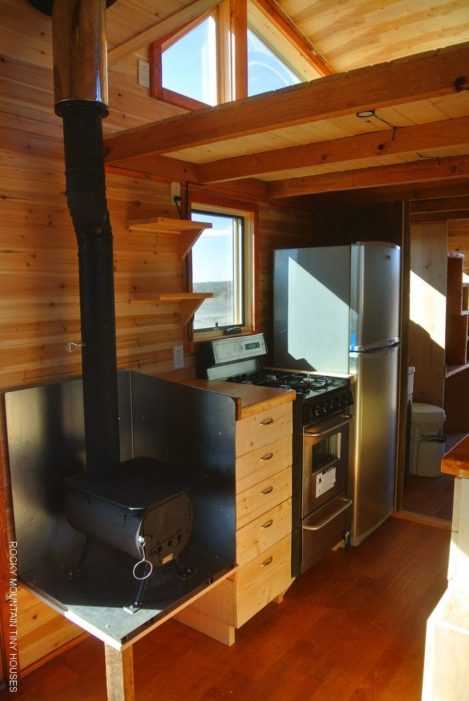 a river runs through it custom gooseneck tiny house, Tiny Houses/