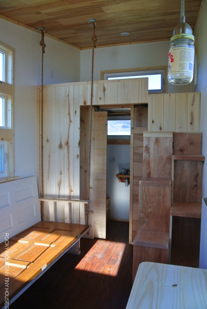 Rocky Mountain Tiny Houses 18' Boulder interior
