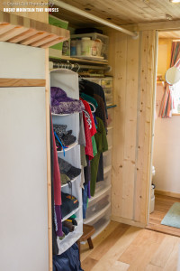 Pequod tiny house parents closet