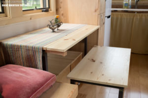 Pequod tiny house benchj