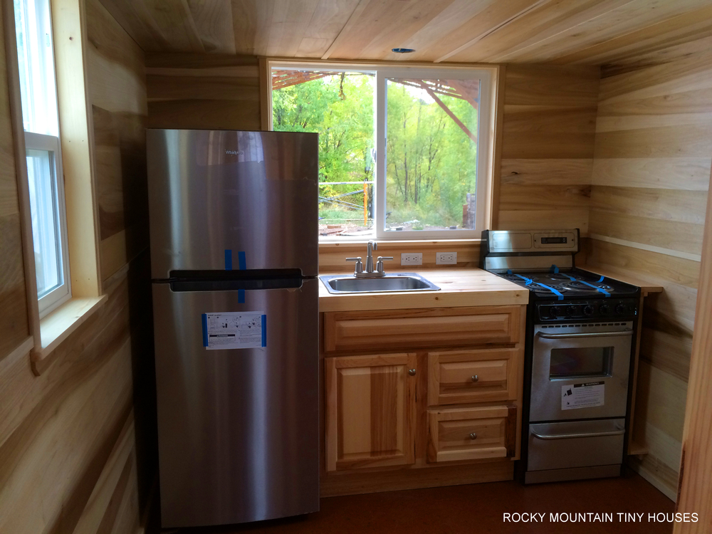 Bayfield tiny house Kitchen design for tiny house