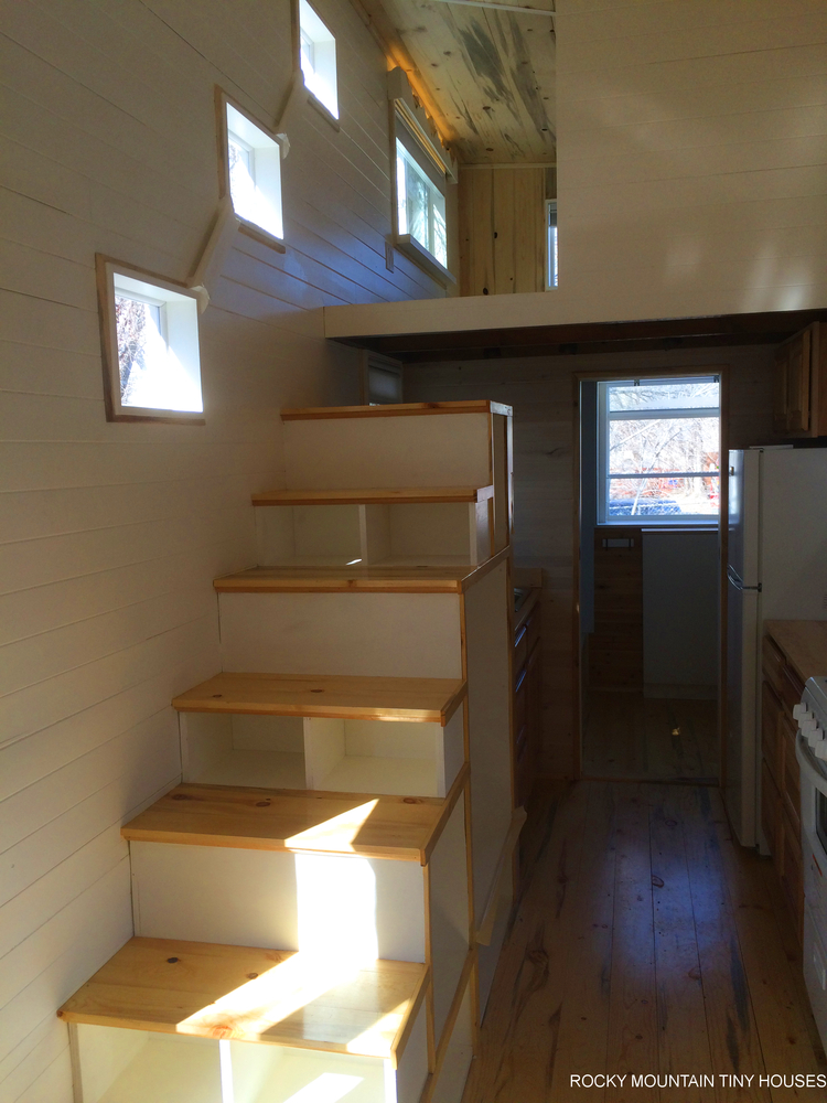 Wasatch 28' tiny house stairs
