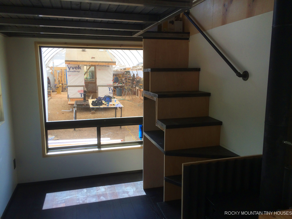 The Upslope tiny house stairs