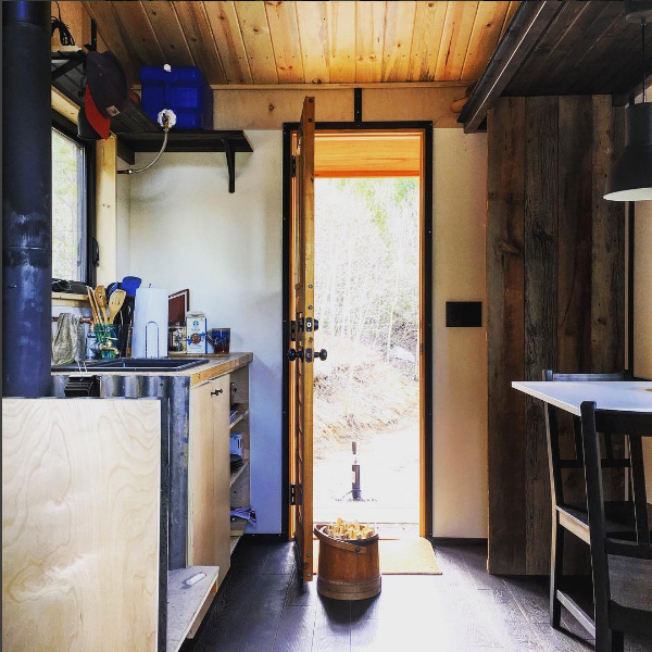 the Upslope tiny house entry