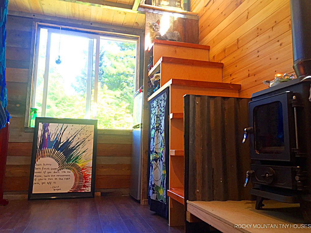 The Mac Shack tiny house living room