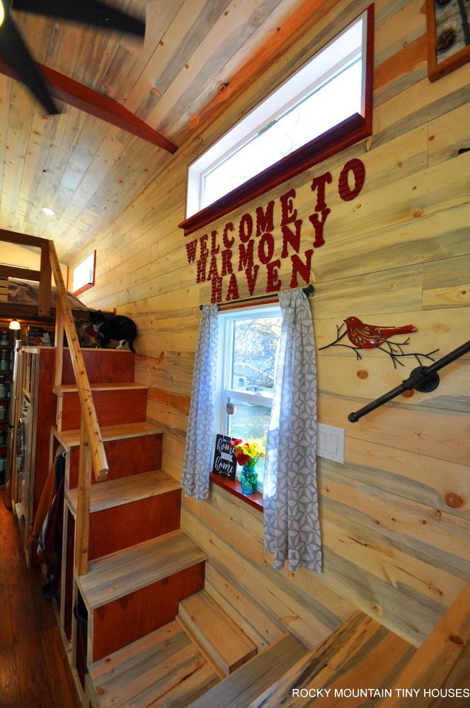 Harmony Haven Tiny House double stairs