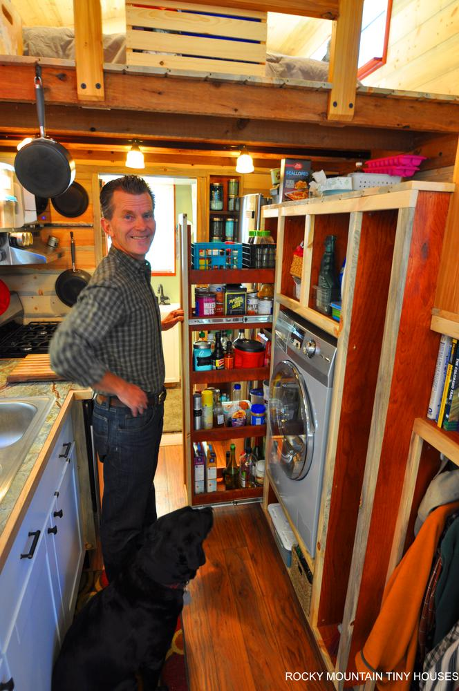 Harmony Haven Tiny House pull out pantry