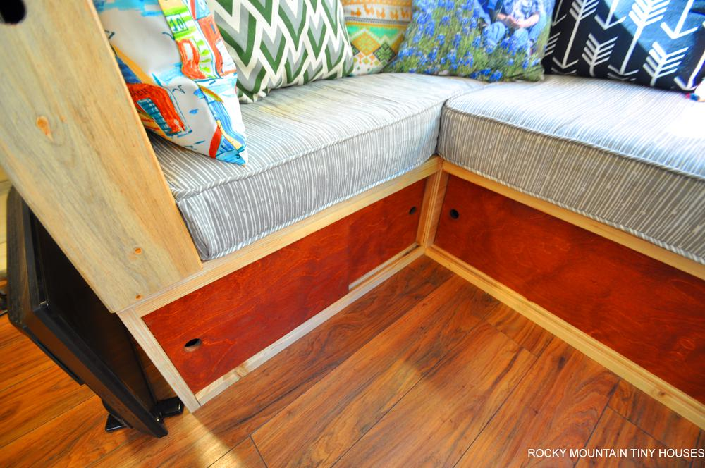 Harmony Haven Tiny House couch storage below