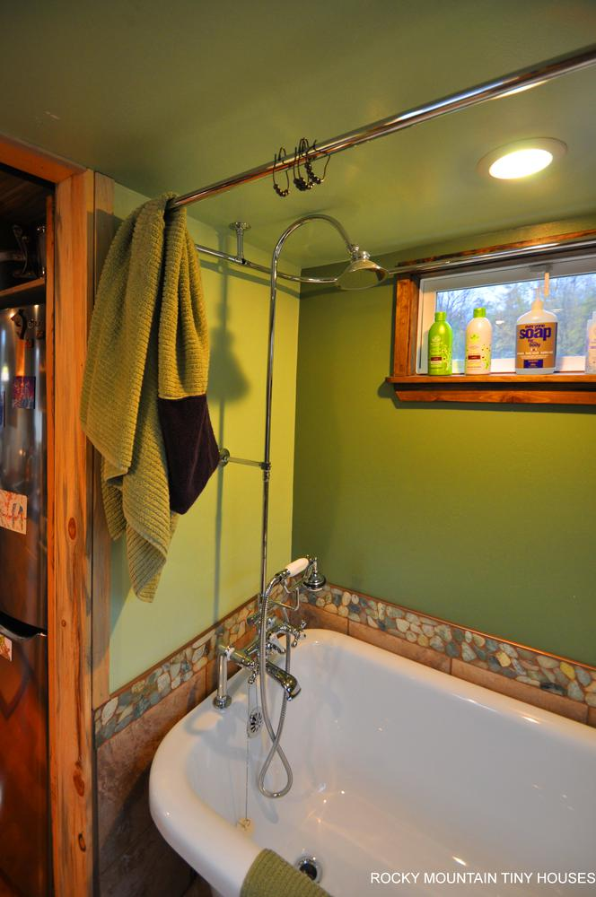 Red Mountain 34' Tiny House luxury bathroom