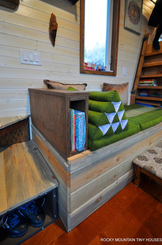 Red Mountain 34' Tiny House custom couch