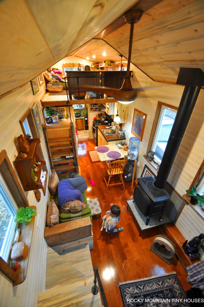 Red Mountain 34' Tiny House living room 1